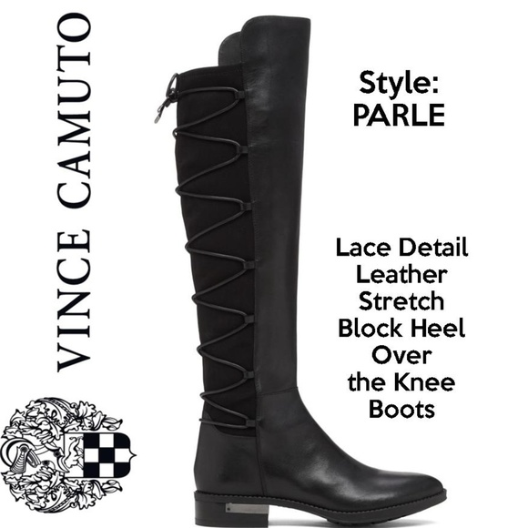 593d0e5be5f Vince Camuto Black Leather Over The Knee Boots. M 5af2572ac9fcdf3078dc4183